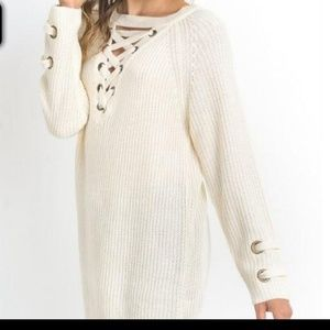 Jodifl lace up sweater S Small